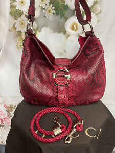 Gucci G WAVE Genuine Python Bag Brand New/box Red European Exclusive MSRP $5400