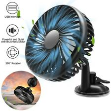 Variable Speed USB Cooling Fan Air Cooler Suction Cup For 12-24V Car Home Office