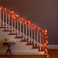 Maple Leaves Garland String Lights Fairy Warm Bright Christmas Stairs LED Decors