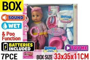 Sweet Baby Doll Drink & Wet with sound Poo & Function Box Toy Girl Gift AU Post