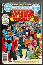 SUPERMAN FAMILY #200 SHARP VF  68  BIG PGS! SUPERWOMAN ,LOIS+ CLARK WEDDING!!