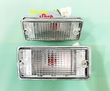 Front Turn Signal Lights Indicator White Lens For 81-85 Nissan B11 Sunny Sentra
