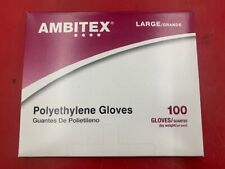 100 Disposable POLYETHYLENE GLOVES POWDER Free Non-Sterile Size LARGE