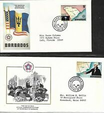 BARBADOS 1976 TWO DIFFERENT FIRST DAY COVERS, AMERICAN BICENTENNIAL