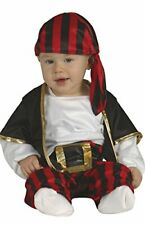 Pirate Baby Costume Garland for 1-2 Years, Red, Black, White, 85561