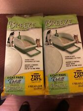 "Breeze Tidy Cat Litter Pads 16.9""x11.4"" - 2 Pack of 4 Pads (2-Pack)"