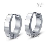 TTstyle Stainless Steel Hoop Earrings Hoop Size 10-20mm Width 2-7mm A Pair NEW