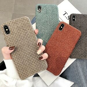 Vintage Designer Protective HandMade Fabric Case For iPhone XR 11 Pro XS MAX X