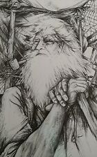 1988 Signed Doug Lindstrand Old Man Prospector Print Alaskan Sketches Limited Ed