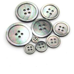 Mother of Pearl,Buttons,  Grey Shell ,Many sizes, Sewing Knitting Buttons