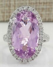 Fashion Women Jewelry 925 Silver Huge Pink Sapphire Engagemnet Wedding Ring Sz 7