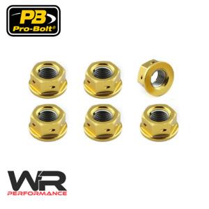 Ducati 748 848 888 916 996 998 999 Gold Probolt Drilled Sprocket Nuts