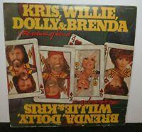 KRIS WILLIE DOLLY & BRENDA THE WINNING HAND (VG+) JWG-38389 LP VINYL RECORD
