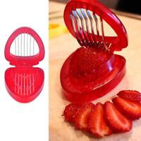 Strawberry Slicer Stem Gem Leaves Huller Remover Fruit Cutter Kitchen Tool