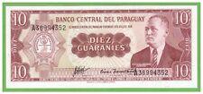 PARAGUAY - 10 GUARANIES - 1952(1963) - P-196b - UNC - REAL FOTO