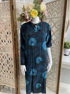 Vintage 1980/'s Seta Pura Silk Maxi Dress
