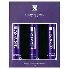 Kativa Kerapro 5 Kit Mantenimiento Keratina  Shampoo + Acondicionador + Serum