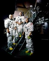 APOLLO 8 CREW AT SIMULATOR STEPS LOVELL, ANDERS, BORMAN 8X10 NASA PHOTO (EP-215)