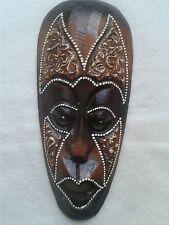 Wand-Maske Holzmaske Dot-Paint 20 cm Wand-Dekoration
