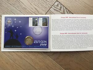 2 EURO 2009 VATICANO ANNO INTERNAZIONALE DELL'ASTRONOMIA CON BUSTA FILATELICA