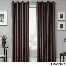 "Softline - Savanna Faux Silk Grommet Top Curtain Panel - Chocolate 57"" x 84"""