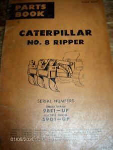 CAT Caterpillar No. 8 Ripper S/N's single shank 98E1-Up & Multiple shank 59G1-Up