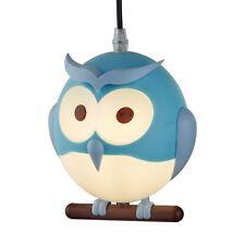 Searchlight 0113BL Novelty Childrens Owl Pendant, Blue