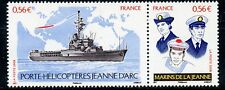 STAMP / TIMBRE DE FRANCE  N° 4423/4424 ** PORTE HELICOPTERES JEANNE D'ARC