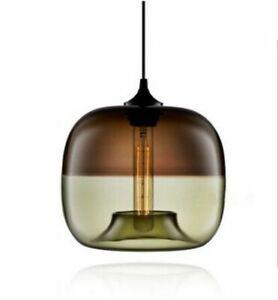 Nordic Glass Pendant Lamp Fixture  Modern Nordic Art Deco Colorful Hanging E27