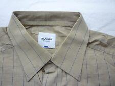 E7917 Olymp Tendenz 4228/65/22 Businesshemd Kombimanschette 41 beige, blau