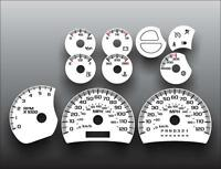 2003-2007 Silverado Truck GAS Dash Instrument Cluster White Face Gauges 03-07