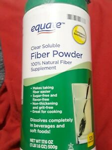 Equate - Fiber Powder, Clear Soluble, 125 Servings, 16.7 oz exp. 10/21