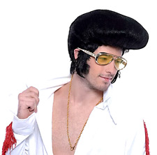 Deluxe High Quiff Elvis 50's Wig 1950's Rock & Roll Teddy Boy Fancy Dress P8093