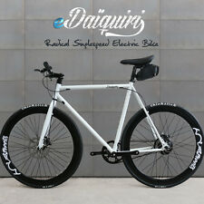 Urban EBike Electric Bike 700c eDaiquiri White Single Speed Bicycle e-bike 58cm