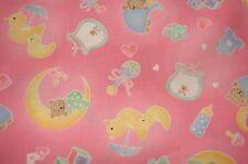 Sleep Time Pink Cotton Fitted Cot Sheet Handmade