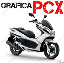 KIT ADESIVI DECAL STICKERS HONDA PCX 125 150 RACING CARENE NERO GRAFICHE