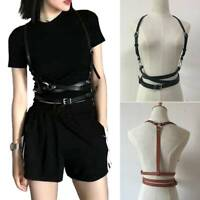 Women Faux Leather Belt Sexy Body Harness Waist Straps Suspenders Belt Acce