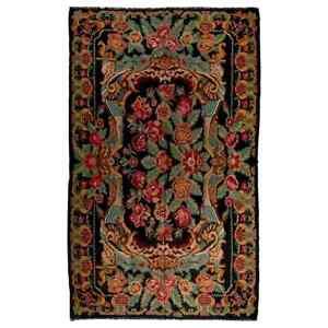 7.3x11.8 Ft Vintage Bessarabian Kilim, Floral Handwoven Wool Rug from Moldova