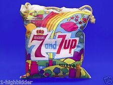 Vintage 1960s 7-Up 7Up Seagrams 7 Vinyl Blow Up Pillow Bag Psychedelic Peter Max