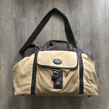 Fossil Estate Framed Leather Waxed Canvas Duffle Bag