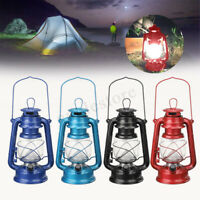 Tragbar 15LED Petroleumlampe Sturmlaterne Camping Outdoor Lampe Laterne