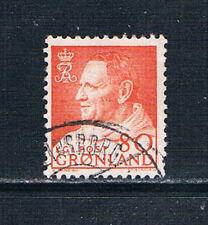 Greenland 1963 80 øre red-orange o/FU SG 58 AFA 57
