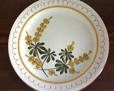 "10"" STANGL Pottery Plate GOLDEN BLOSSOM hand painted Redware  retired"