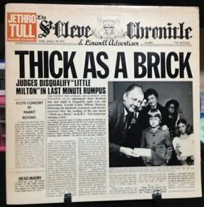 JETHRO TULL Thick as a Brick Album Released 1972 Vinyl/Record  Collection USA