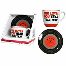 The Beatles She Loves You Mug & Saucer New in Box BY Bluw officially Licensed