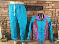 Westside Connection Nylon Windbreaker Track Suit Jacket Pants Women Size Medium