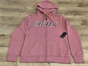 FOX Break Check Full Zip Hoodie Fleece Rose Womens SZ S ( 25685-345-S ) NWT!!