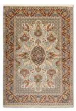 Tapis multicolores persane/orientale traditionnelle pour la maison, en 100% soie