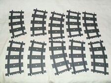 Lego Trains Eisenbahn 10 gebogene Schienen für RC (aus z.B: Set 7896) / top !!