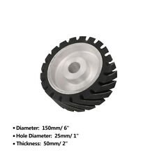 6 Inch Rubber Serrated Sand Belt Grinder Wheel Contact Polishing Wheel Polisher